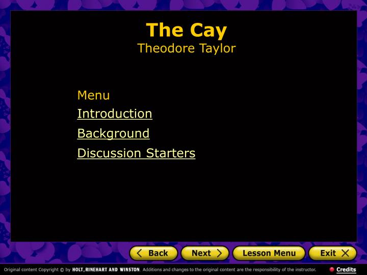 the cay theodore taylor n.