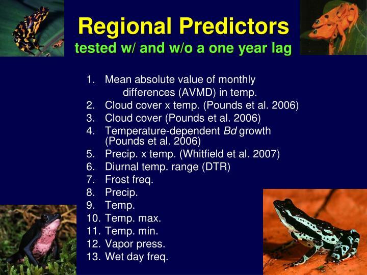 Regional Predictors