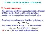 is the heckler model correct5