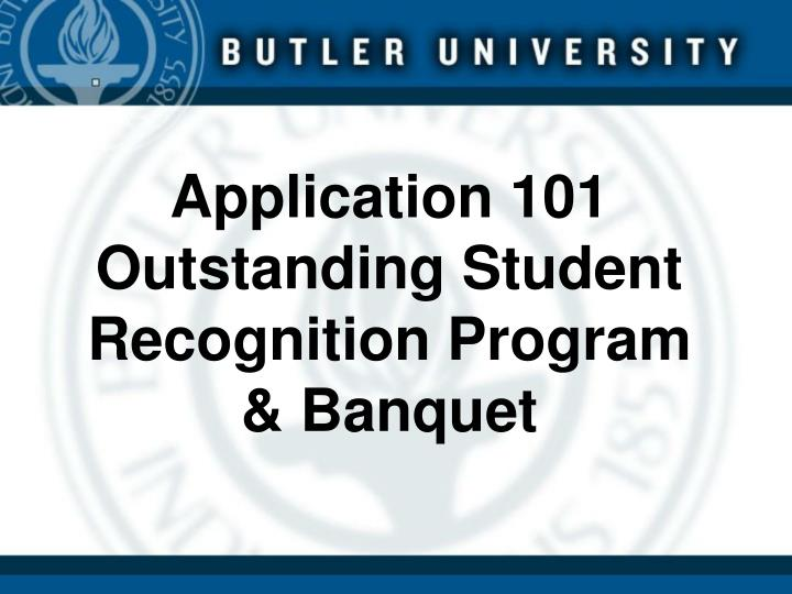 application 101 outstanding student recognition program banquet n.