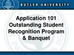 application 101 outstanding student recognition program banquet