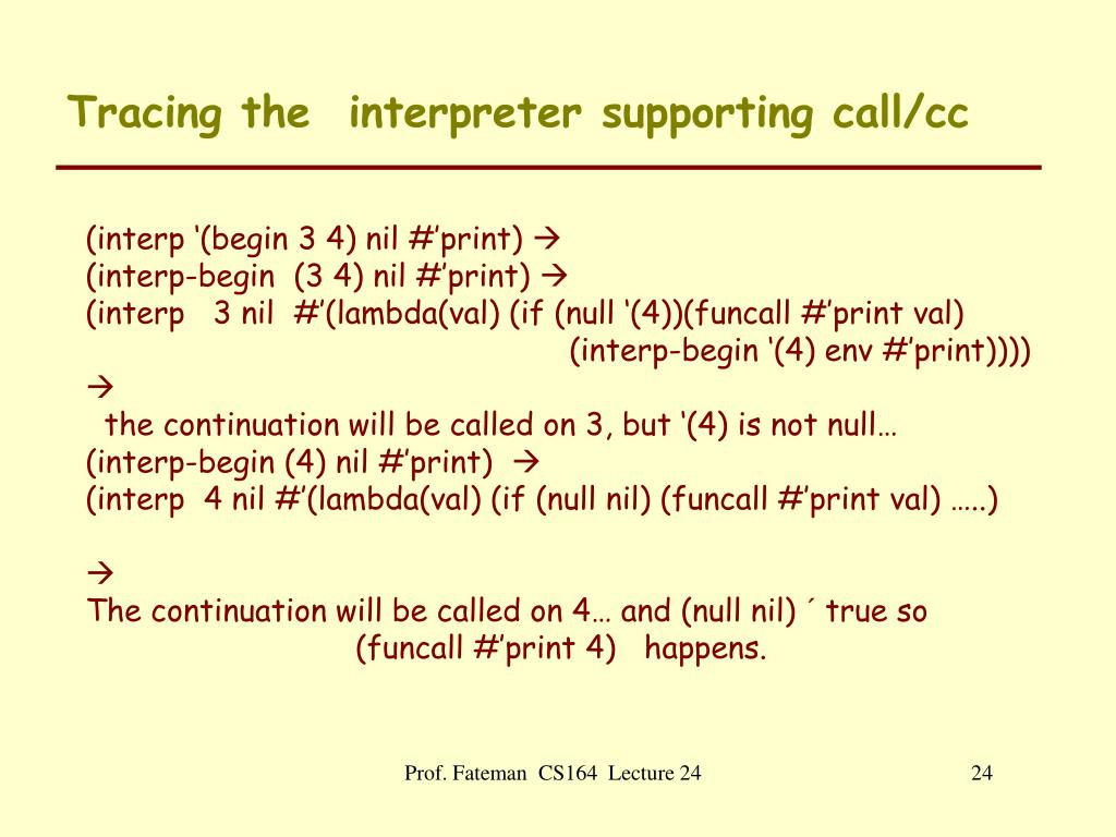 PPT - Other Control Flow ideas: Throw, Catch, Continuations
