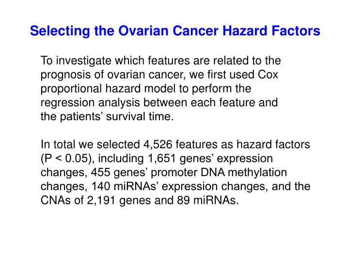 Selecting the Ovarian Cancer Hazard Factors