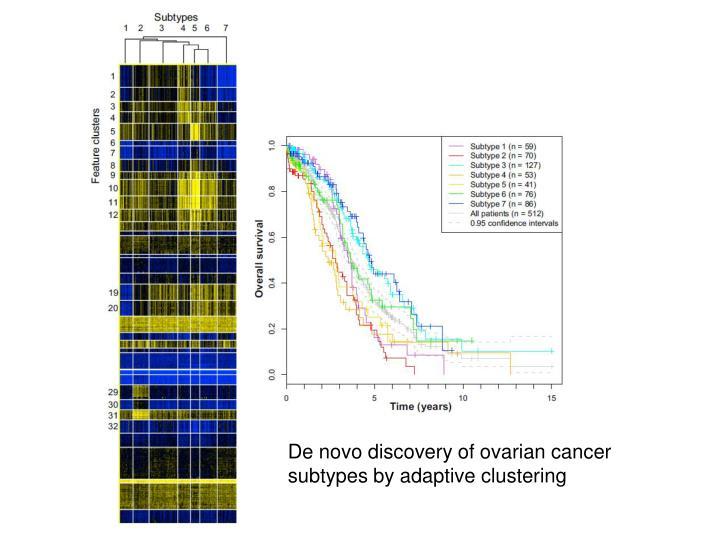 De novo discovery of ovarian cancer
