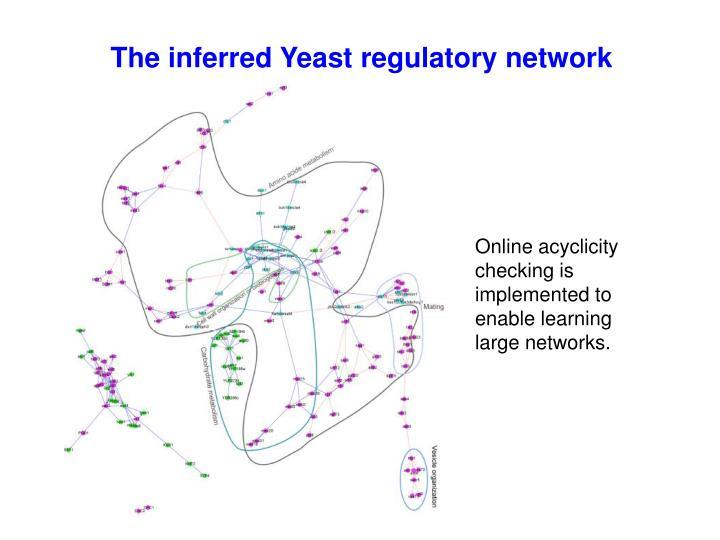 The inferred Yeast regulatory network