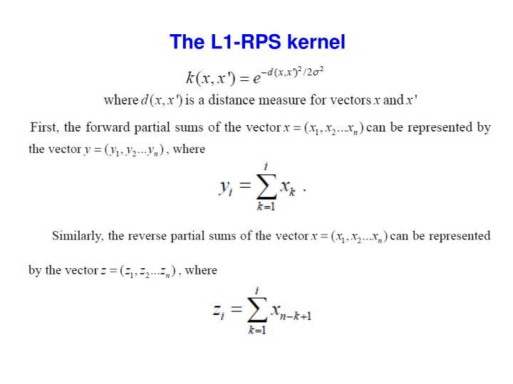 The L1-RPS kernel