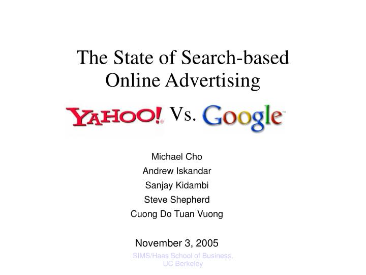 the state of search based online advertising n.
