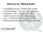 what are the mixing rules