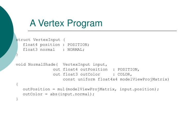 A Vertex Program