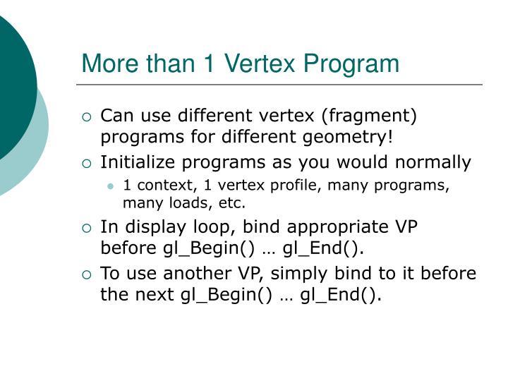 More than 1 Vertex Program