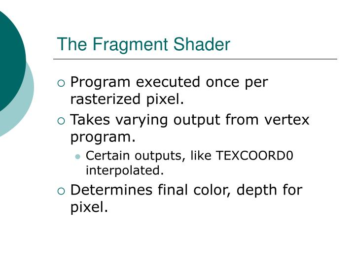 The Fragment Shader
