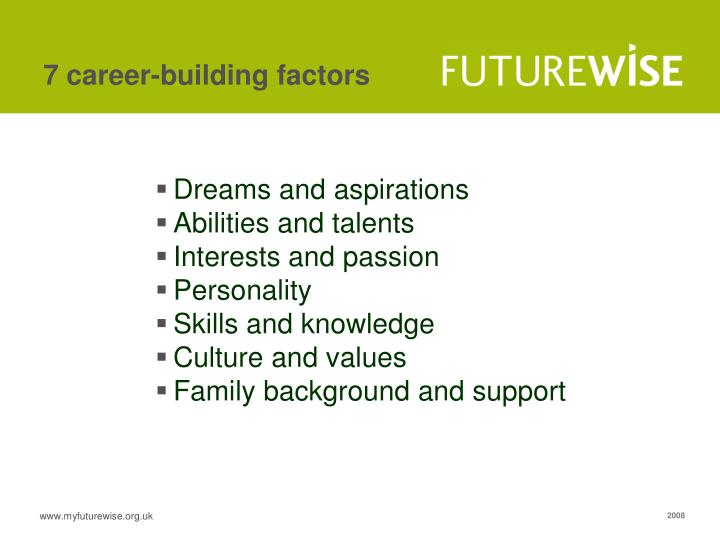7 career-building factors