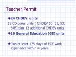 teacher permit