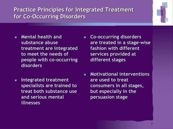 Practice Principles for Integrated Treatment for Co-Occurring Disorders
