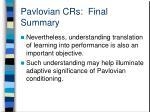 pavlovian crs final summary1
