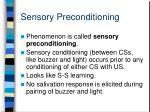 sensory preconditioning1