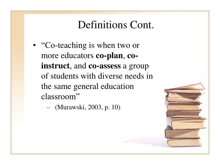 Definitions Cont.