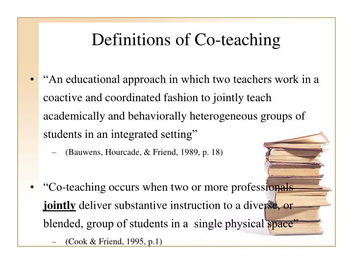 Definitions of Co-teaching