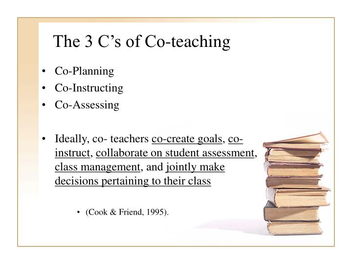 The 3 C's of Co-teaching