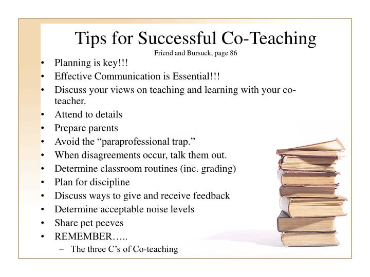 Tips for Successful Co-Teaching