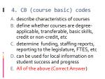 4 cb course basic codes