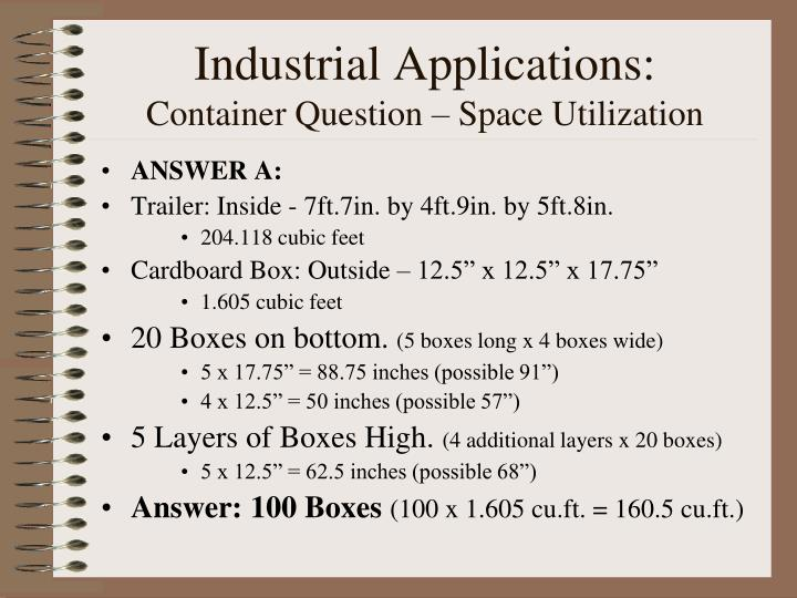 Industrial Applications: