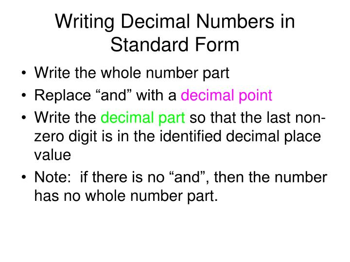 Ppt Decimal Numbers Powerpoint Presentation Id3198672