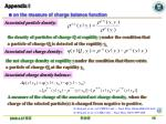 appendix i on the measure of charge balance function