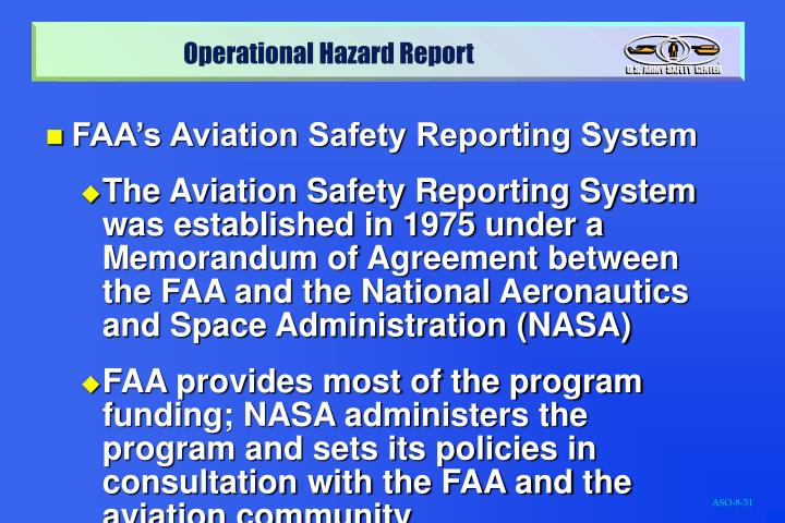FAA's Aviation Safety Reporting System