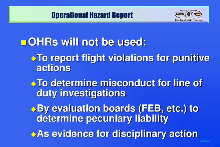 OHRs will not be used: