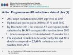action programme on ab reduction state of play 1