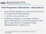 action programme on ab reduction state of play 31