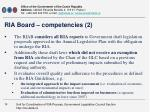ria board competencies 2