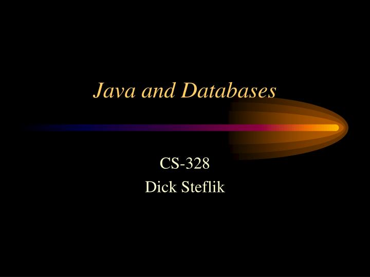 java and databases n.
