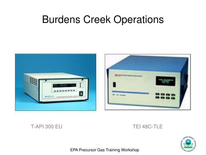 Burdens Creek Operations