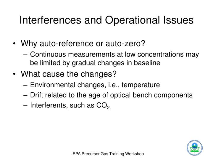 Interferences and Operational Issues