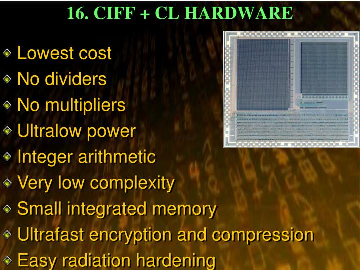 16. CIFF + CL HARDWARE