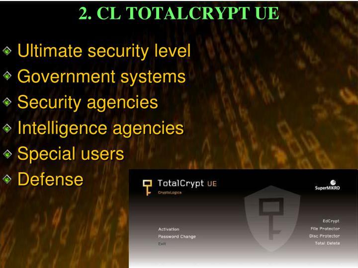 2 cl totalcrypt ue