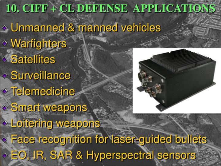 10. CIFF + CL DEFENSE  APPLICATIONS