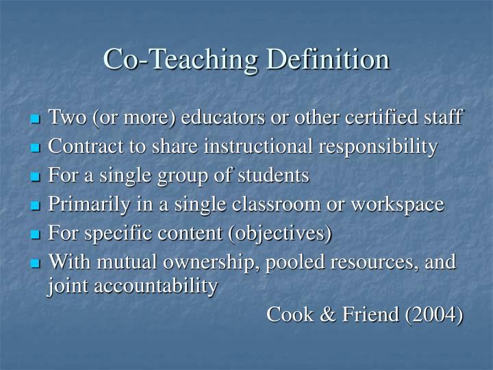 Co-Teaching Definition