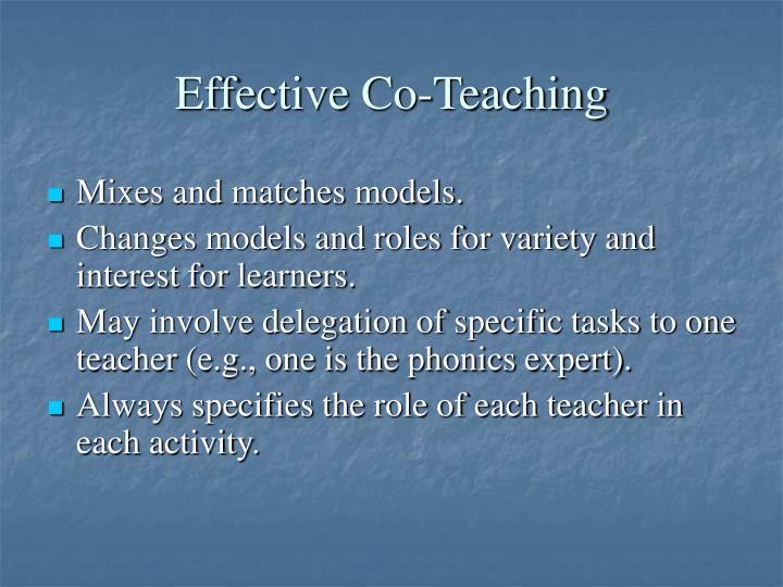 Effective Co-Teaching