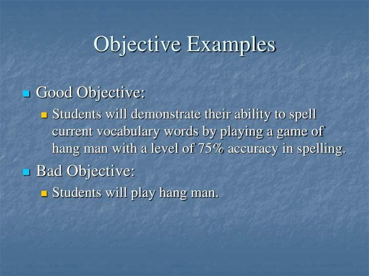 Objective Examples