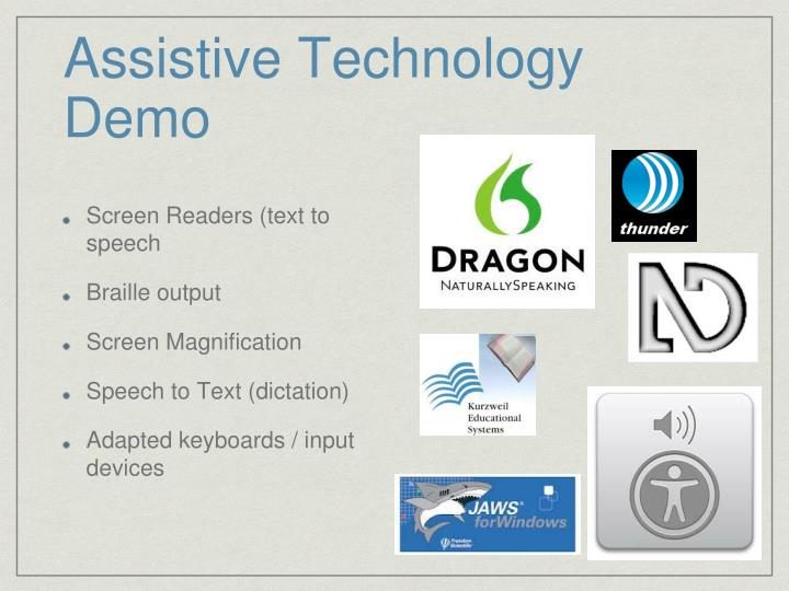 Assistive Technology Demo