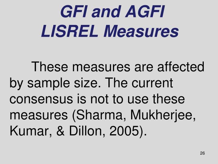 GFI and AGFI