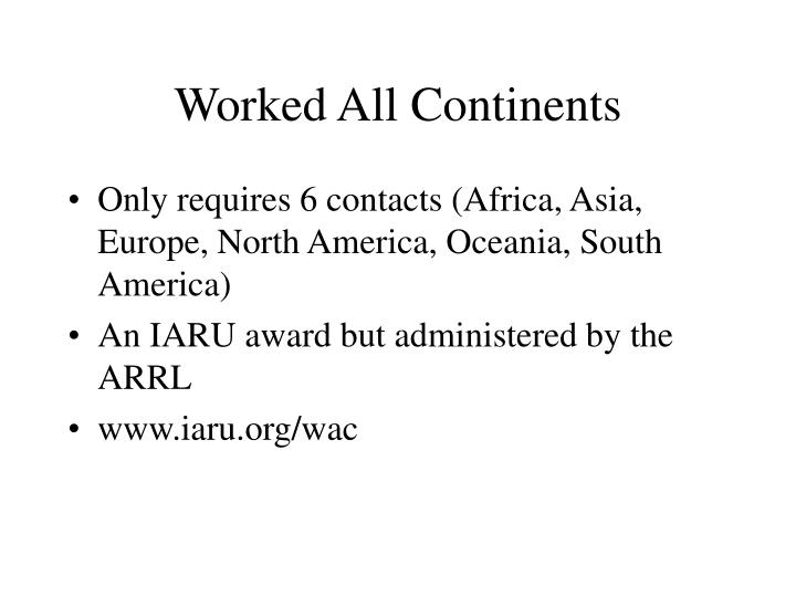 Worked All Continents