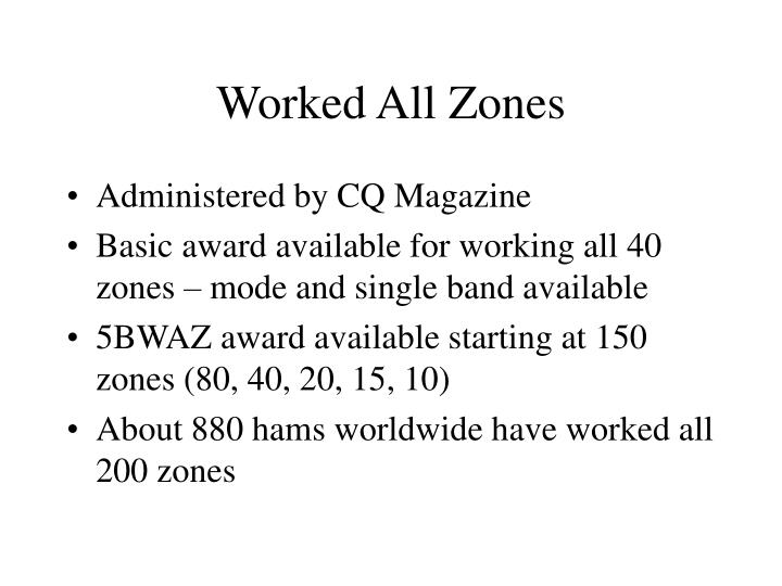 Worked All Zones