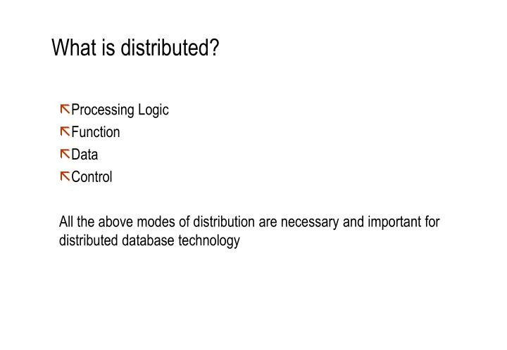 What is distributed