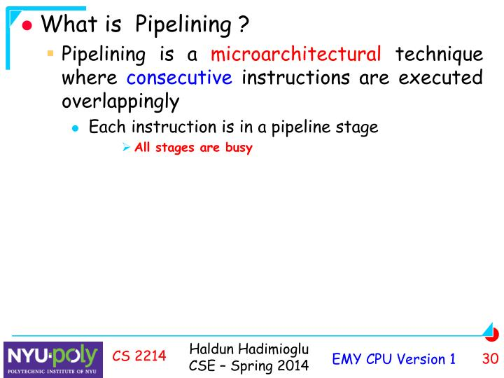 What is  Pipelining ?