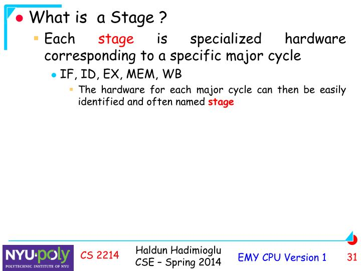 What is  a Stage ?