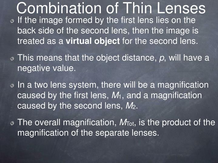 Combination of Thin Lenses